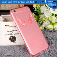 [GGIT] Hot Selling Angel Wings Mobile Phone TPU Case for iPhone 6 with Small MOQ