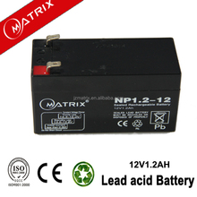 12v 1.2ah electric power accumulator battery with ce iso