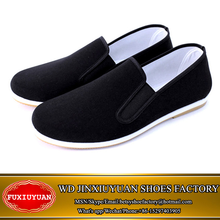 2015 High quality Men's slip-on cotton fabric kung fu shoes