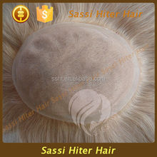 FULL FRENCH LACE SILK TOP PU AROUND MEN WIGS BLOND