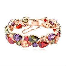 Nuevo diseño pulsera brazalete, pulsera de oro Circón