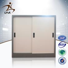 Customized 2 sliding door space saving steel company direct cabinet/ korea steel file cabinet