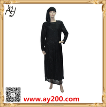 Alibaba OEM china supplier abaya latest design muslim long sleeve abaya pictures