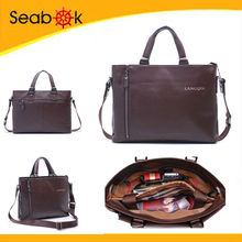 Genuine Leather computer bag,man laptop bag