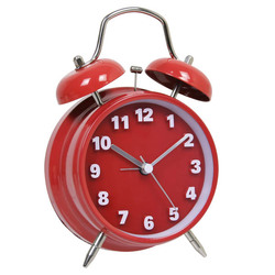 3D numbers twin bell colourful alarm clock