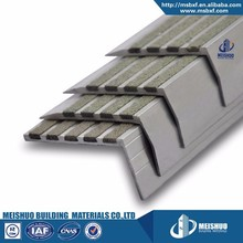 Hard wearing chamfered outdoor stair tread with non slip strips