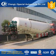 chinese cheap ttri axle three comparments 60 cbm bulk pulverized fuel ash tanker semi trailer for hot sale