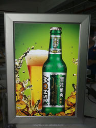 Super slim led light box led slim snap frame light box aluminium profile acrylic photo frame