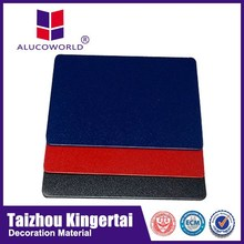 Alucoworld excellent impact assistance brushed silver acp panels for building