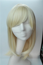 100% synthetic fiber, Ladies fashion blonde/ smooth/ straight wigs