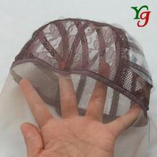 15-17 frente completo del cordón Cap Net peluca para hacer casquillo de la peluca ajustable