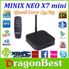 MINIX X7 tv box Quad core android 4.4 smart tv box minix neo x7 Rock Chips rk3188 RJ45 bluetooth4.0 2GB RAM 8GB ROM
