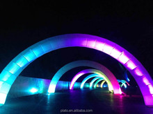 2015 Event decorations advertising indoor/outdoor led light inflatable arch