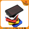 Super thin Solar charger for Samsung Galaxy s4 s6 2600mah usb portable mobile power bank micro usb charger output 5v/2000ma