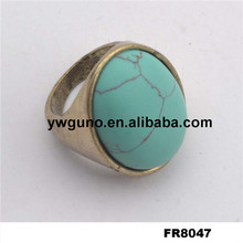 2015 Fashion Natural Turquoise Finger Rings