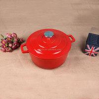 Enamel Cast Iron casserole pot belly stove
