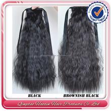 New products wrap around human hair drawstring ponytail