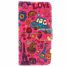 multiply pattern flip leather case, mobile phone leather cover for Samsung S4mini