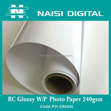 240gsm RC inkjet lucky glossy photo paper