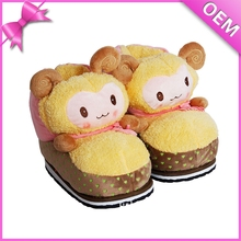 Cute little lamb feet warm meaning pleasant plush goat slippers