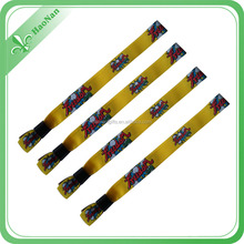 Polyester material entrance wristband as promotional gift items