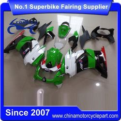 FFKKA001 Motorcycle ABS Fairings Kit For 250R 250 Fairing 2008-2012 Green And White And Black 2