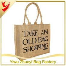 Healthy Hessian Printed Foldable Burlap Jute Shopping Bag