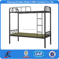 cheap bedroom furniture knock down double metal bed iron strong double metal bed from China