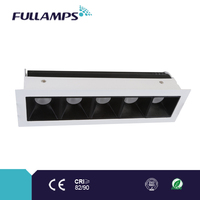 5*3W fixed square led cabinet lights with brand chip and driver, high CRI and power factor