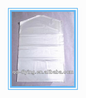 Dry cleaning laundry shop used disposable pe plastic bags on roll