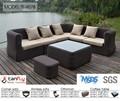 Rattan e vime jardim móveis de vime sofá secional