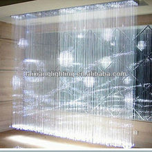 China manufacturing Smart party decoration Design by Buyer Himself Side & End glow fiber optic curtain for ,wedding decoration