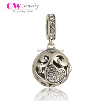 Hotsell Circle Silver Beads Hollow Pattern Charms High Quality Charms