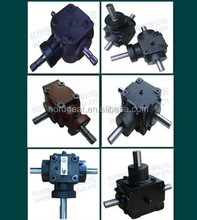 FR100-6 European Standard heat treated right angle gearbox 1:1