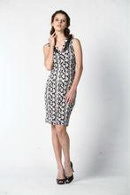 Negro y blanco impreso viste la nueva moda 2014 para de maternidad ropa