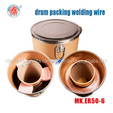 Drum packing: CO2 Gas shielded welding wire ER70S-6 EN ISO G3Si1