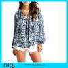 Long sleeve printting chiffon lady blouse fashion woman female blouse bohemian clothing