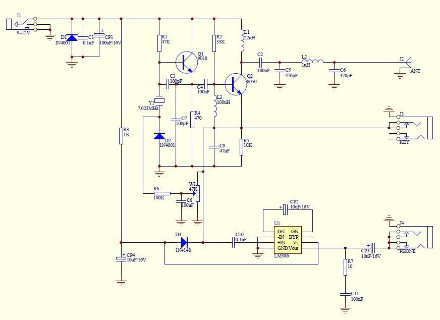 Электронные компоненты QRP CW DIY , 40 , 7.023 , /no.1800