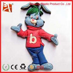 2015 Popular Soft PVC Fridge Magnets With Animal Prints