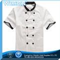 Moda poly cotton uniforme do cozinheiro chefe espera staff uniform