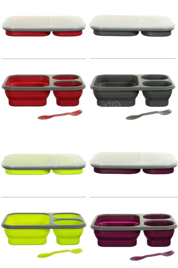 wholesale folding biodegradable bento box and custom recyclable japanese foldable silicone bento. Black Bedroom Furniture Sets. Home Design Ideas