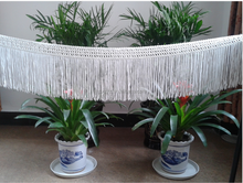 Nice white rayon chainette fringe with trimming
