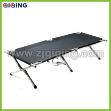 Foldable aluminum stretcher bed, folding army cot with 600D carrying bag HQ-8001J