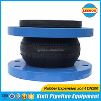 EPDM/CR/NBR material rubber pipe joints with flange end
