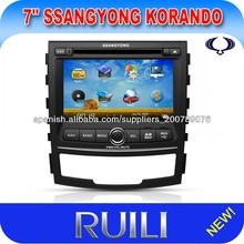 DVD 7 pulgadas Ssangyong Korando coche para el coche con 3G / Wifi