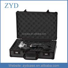 "Black ABS pistol case aluminium portable wholesale gun case,16.5""x 11""x 4.75"""