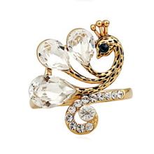 Animal head ring open wedding gifts charm ring immitation jewellery