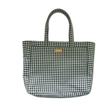 High-grade polyester plaid jersey cloth laminated metal zipper Kua shoulder portable Mummy bag shopping bag