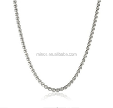 Promotional Stainless Steel Box Chain Necklace For Christmas Gift