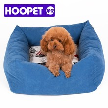 Pet furniture products for dog square dog sofa with patterned cushion
